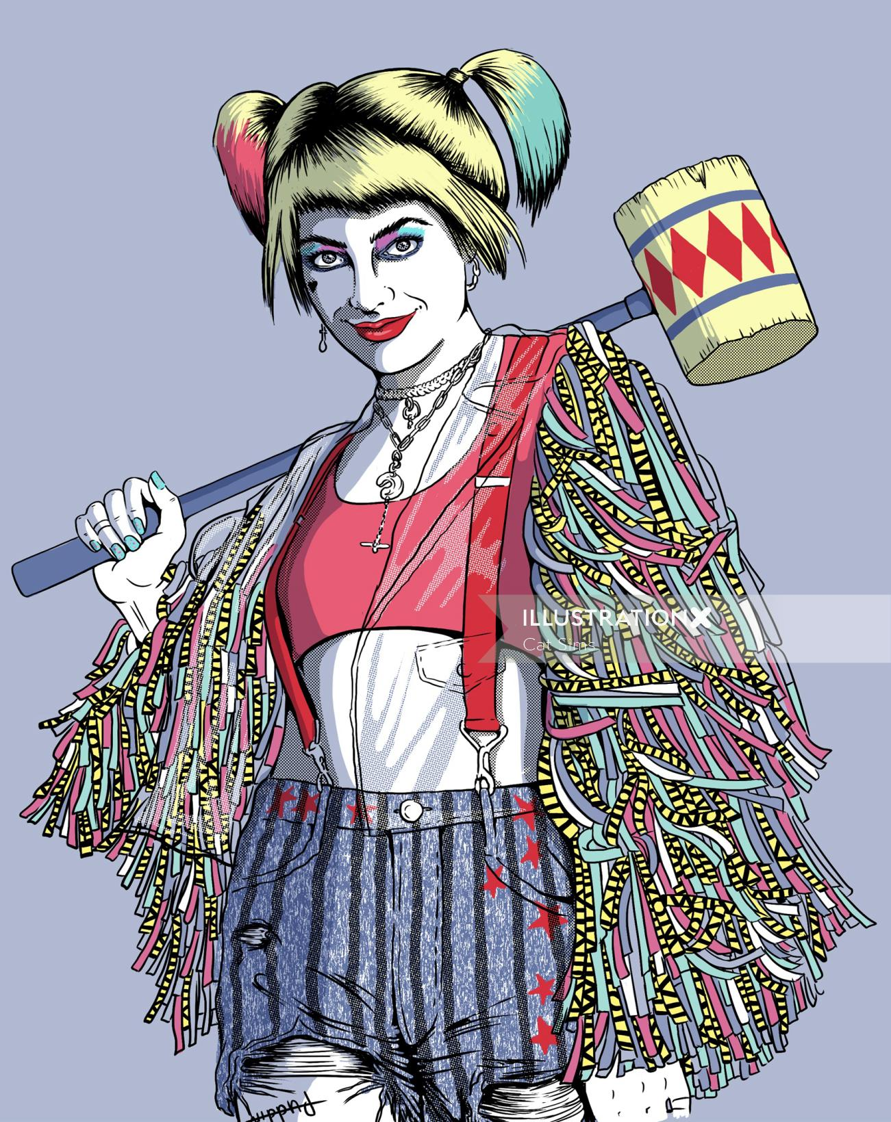 Comic illustration of Syco girl