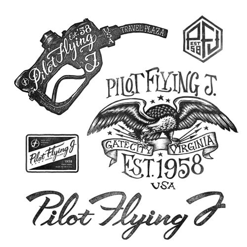 Pilot Flying  lettering Apparel designs