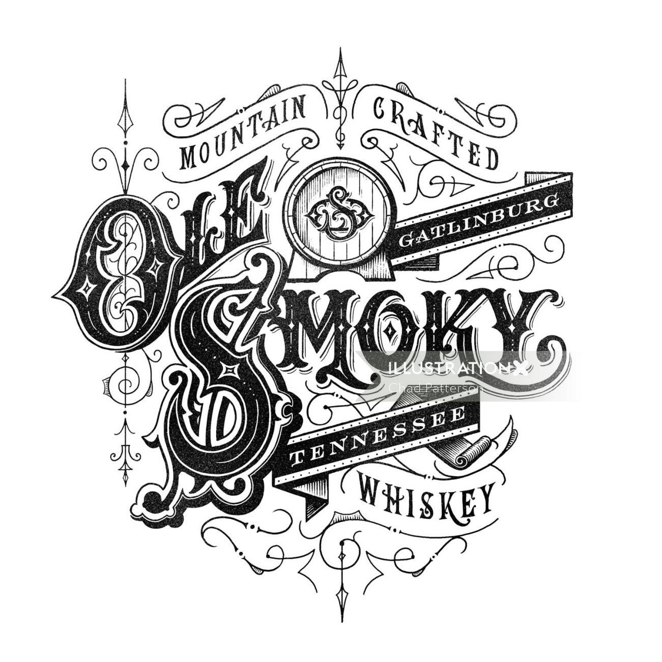 Logo Design for Ole' Smokey Moonshine