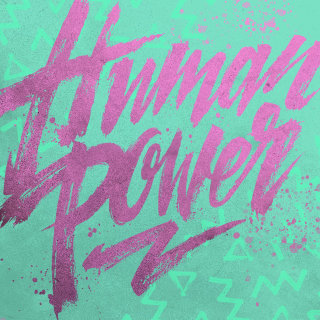 "hand lettering logo design ""Human power"""