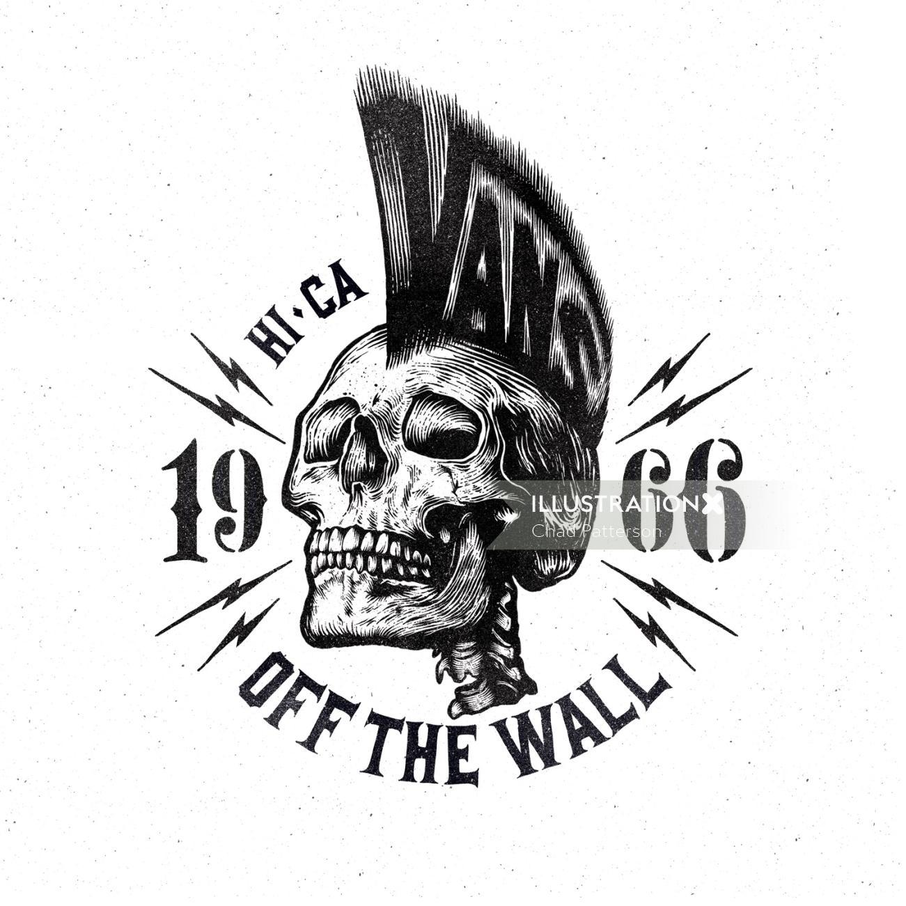Apparel Logo Design Graphic Vans skeleton skull sport nike