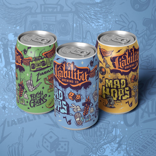 Can designs for brewing company logo design character