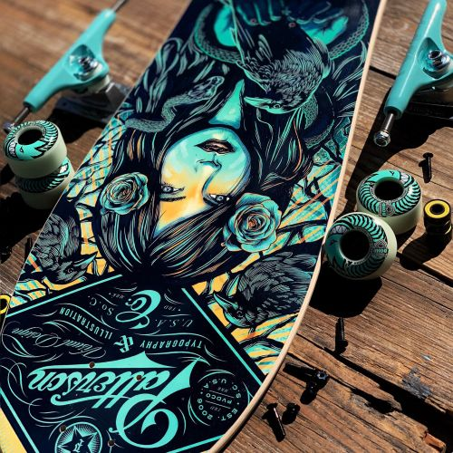 Skateboard design by Chad Patterson