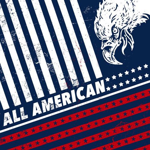 Americana eagle flag