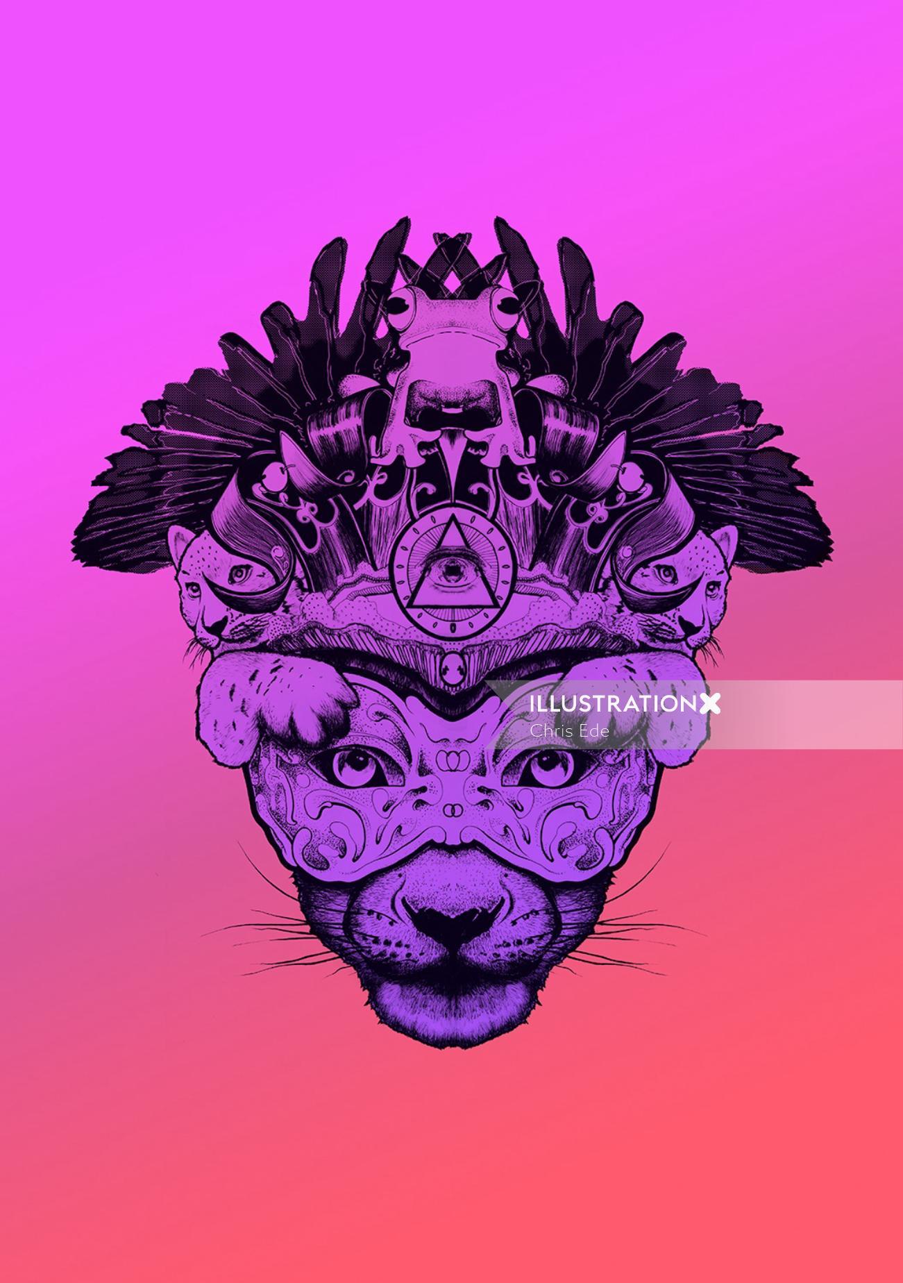 Fashion lion face mask