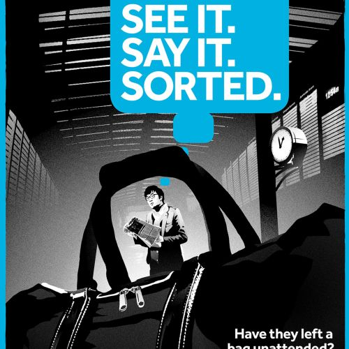 people safety advertisement campaign illustrated by Chris Ede