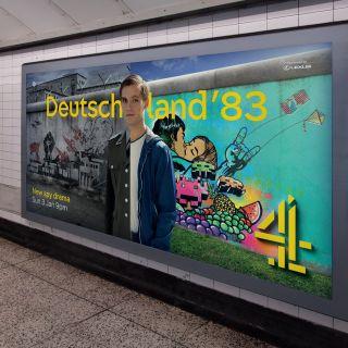 Graffiti Illustration For The Deutschland 83 Ad