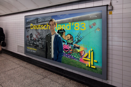 Graffiti Illustration For The Deutschland 83 Ad