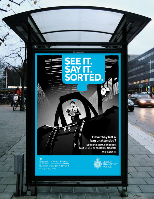 British Transport Police Digital poster
