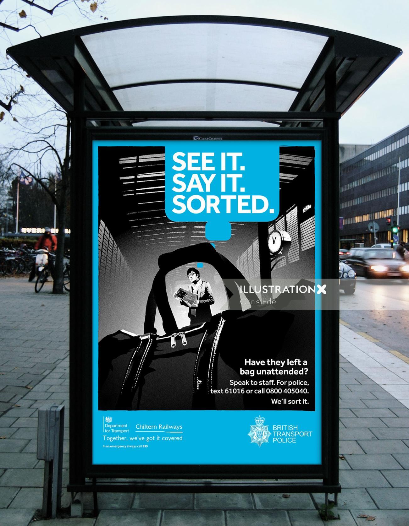 British Transport Police Digital poster