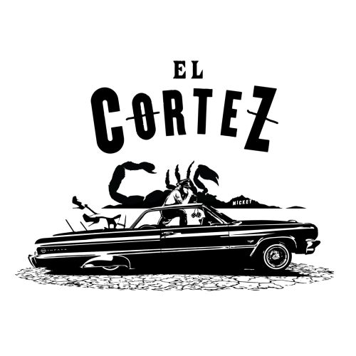 Typography EL Cortez and scorpion