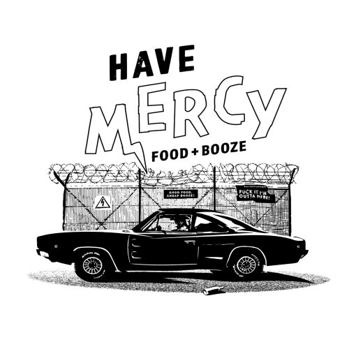 Black and white Michael Madsen x Have Mercy poster