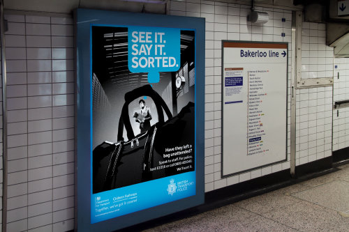 火车站人民安全海报