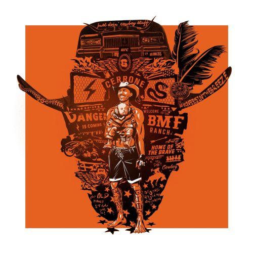 Cowboy Cerrone Portrait UFC Graphic poster