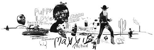 迈克尔·麦克西斯的版式和头骨艺术