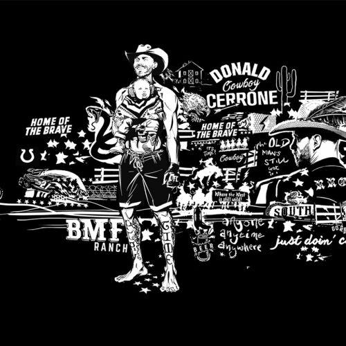 Graphic Montage Cowboy Cerrone Portrait UFC