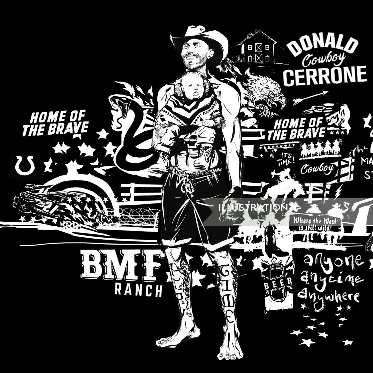 Cowboy Cerrone fan art