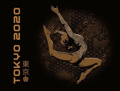 Juegos Olímpicos de Tokio 2020 decorativos y tipografía