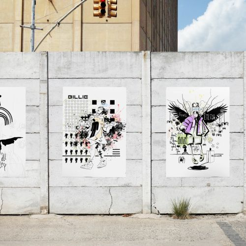 Graphic pop street art