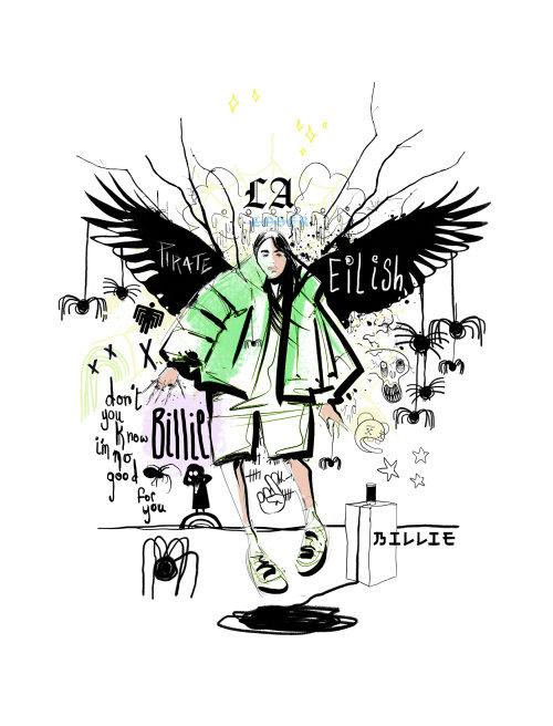 graphic billie eilish portrait