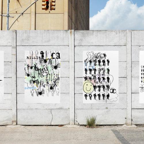 Billie Eilish街头艺术收藏