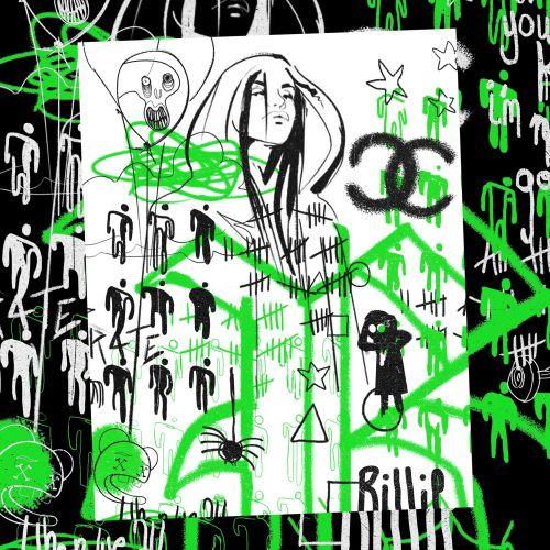 Graphic Montage Billie Eilish Street Art Collection