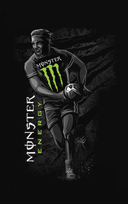 怪物能量运动可以橄榄球运动员