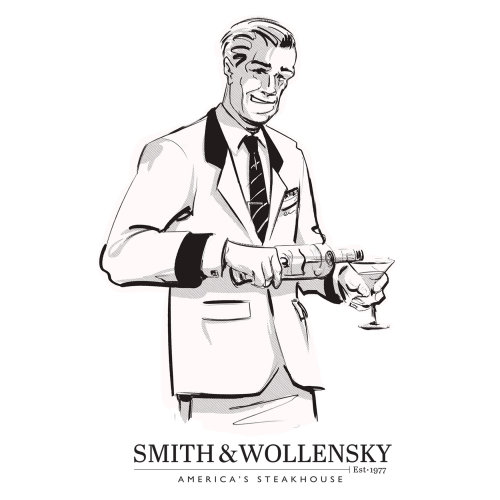barman graphique avec boissons