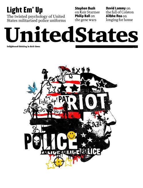 Collage émeute aux États-Unis