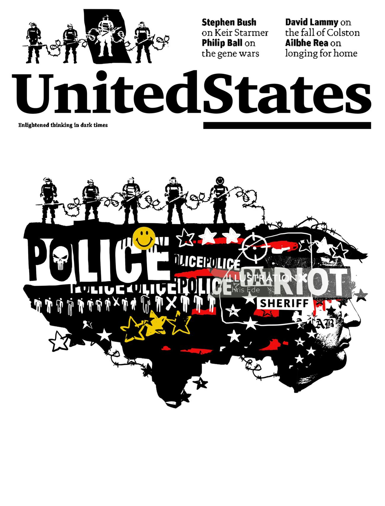 Editorial United States Police poster