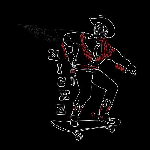 People cowboy on skateboard