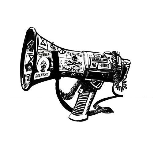 Graphic megaphone