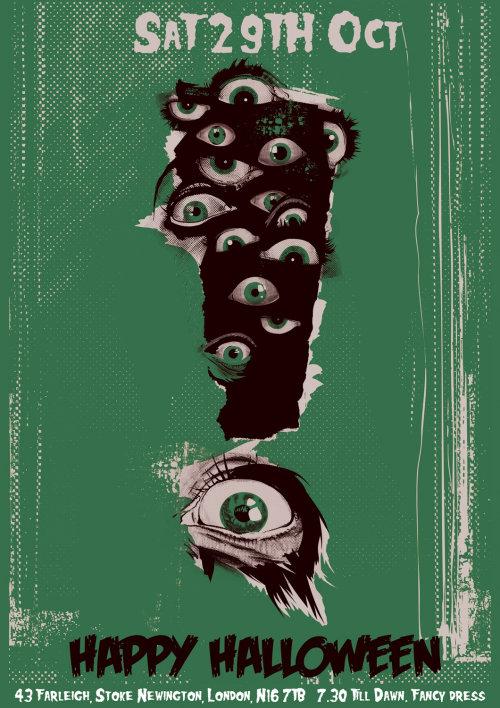 movie poster designed for evil Halloween