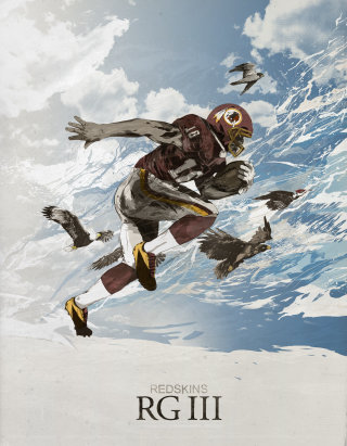 American football - An illustration by Chris Ede