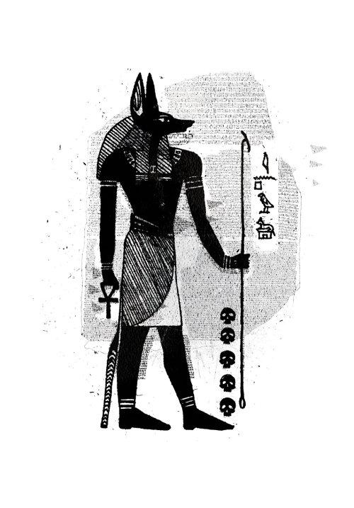 Egyptian god historical illustration