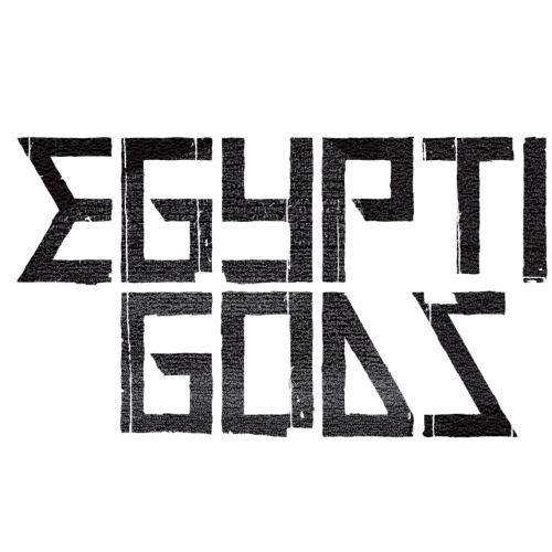 Egyptian God typography illustration