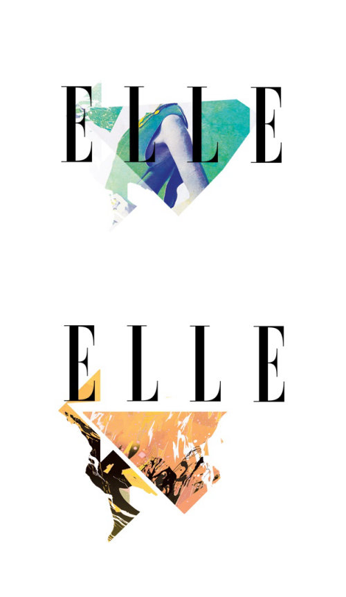 克里斯·埃德(Chris Ede)为《埃勒(Elle)时尚》杂志绘制的插图