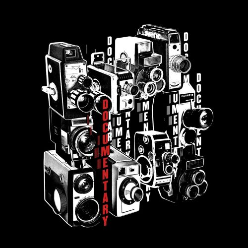 Retro illustration of Documentary film Camera