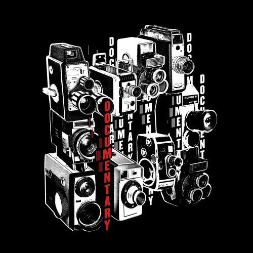 Retro illustration of Documentary film Camera