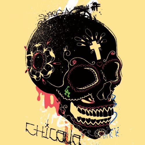 Mexico skull street art