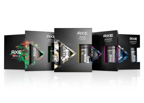 Axe deodorant packaging illustration