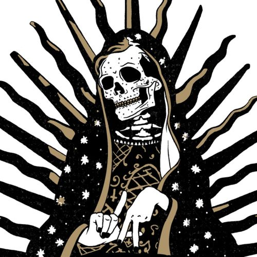 Mary Lady of Guadalupe skull art
