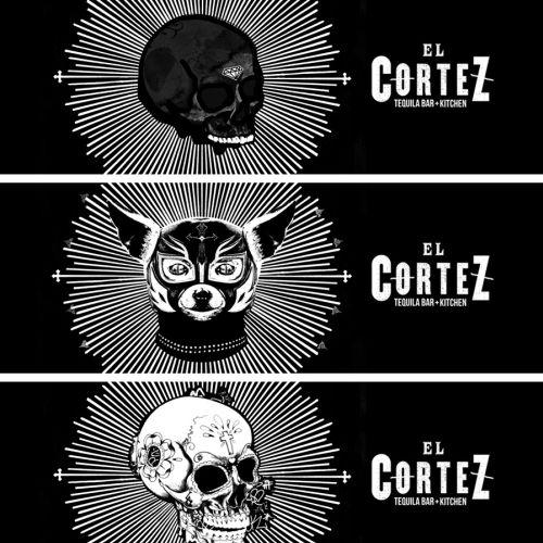 Black & white skulls graffiti drawings