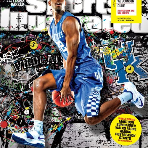 Cover Illustration of College Basketball Magazine