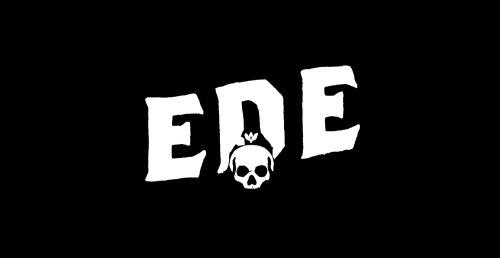 Ede skull type branding logo