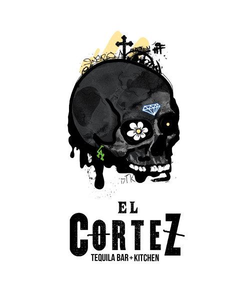 graffiti art of El cortez skull
