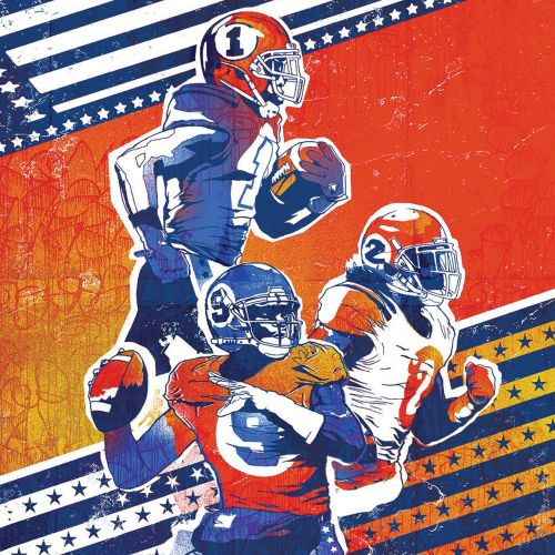 Illustration for American football magazine by Chris Ede