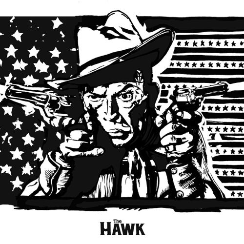 American cowboy portrait with gun