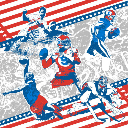 Illustration for American football by Chris Ede