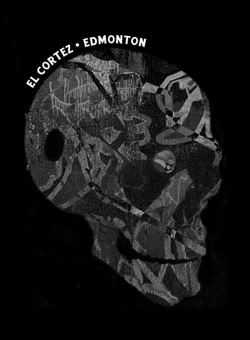 Abstract illustration of skull badge